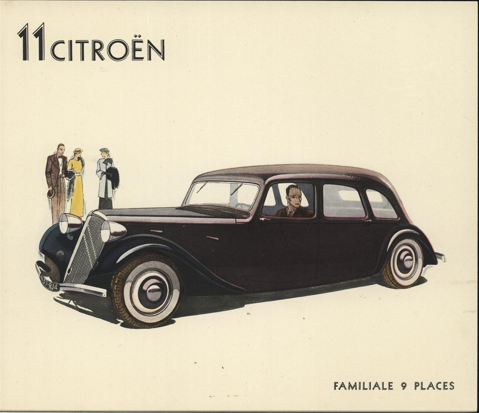 Werbeprospekt Traction Avant 1935