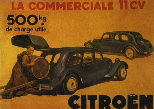 Traction 11D Commerciale Werbung 1955