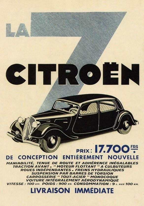 Traction 7A Farbige Werbung 1934