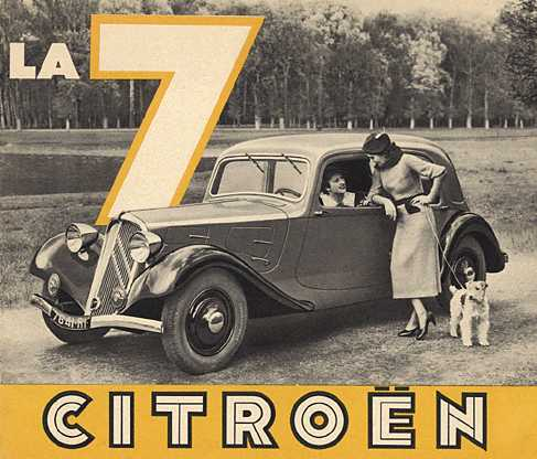 Traction 7A Werbung mit Models 1934