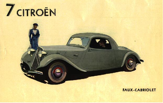Traction 7B Coupé Werbung 1934